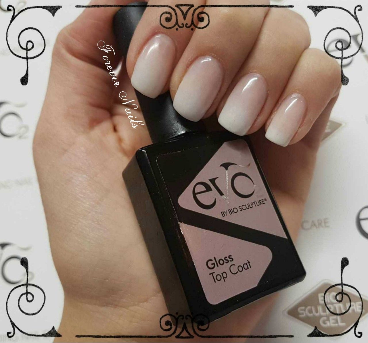 French Ombre done with Bio Sculptures Nail Art Kit | Nails By Andrea