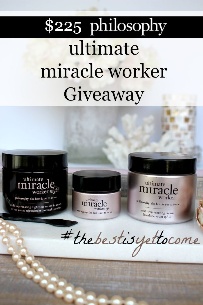 Giveaway Review Philosophy Ultimate Miracle Worker Day Cream Eye Cream And Night Cream Beautystat Com Skin Care Cream Eye Cream Night Creams