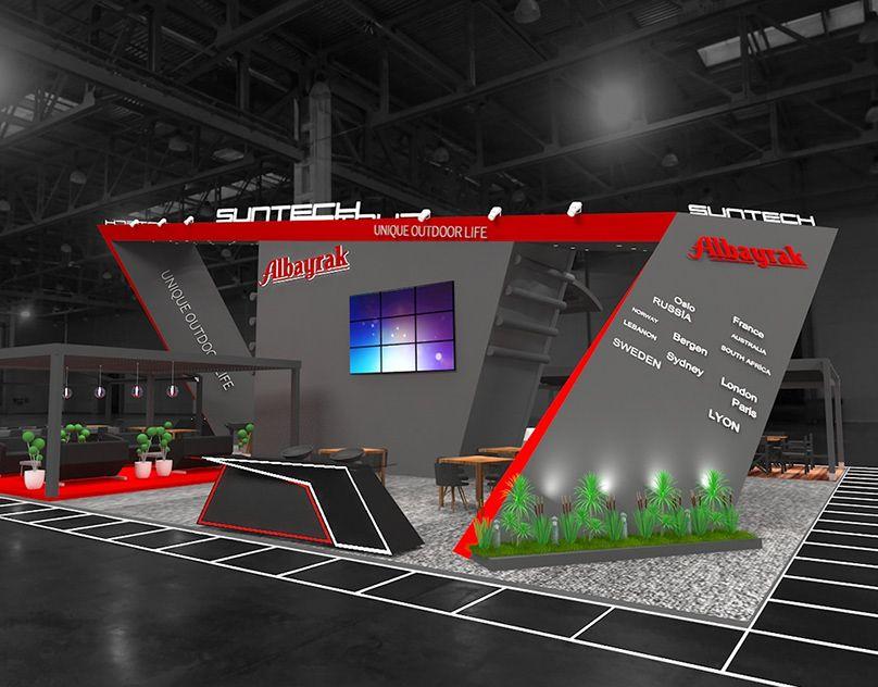 Exhibition Stand Design Lebanon : Albayrak r t exhİbİton stand stuttgart on behance exhibition