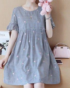 CW78036 Summer Korean style dress loose pregnant woman tops ... b07e6641d8ad