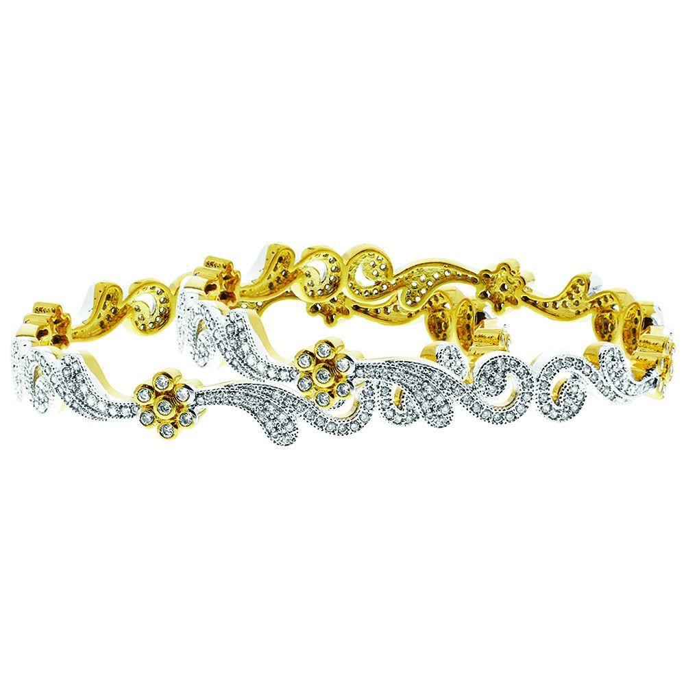K gold plated cz swirl design bangle bracelet set of products
