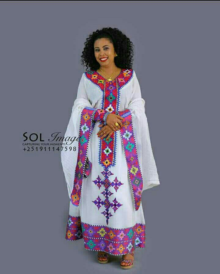 My dress #Ethiopian_Fashion, #EthiopianFashion, | Eritrean dress in