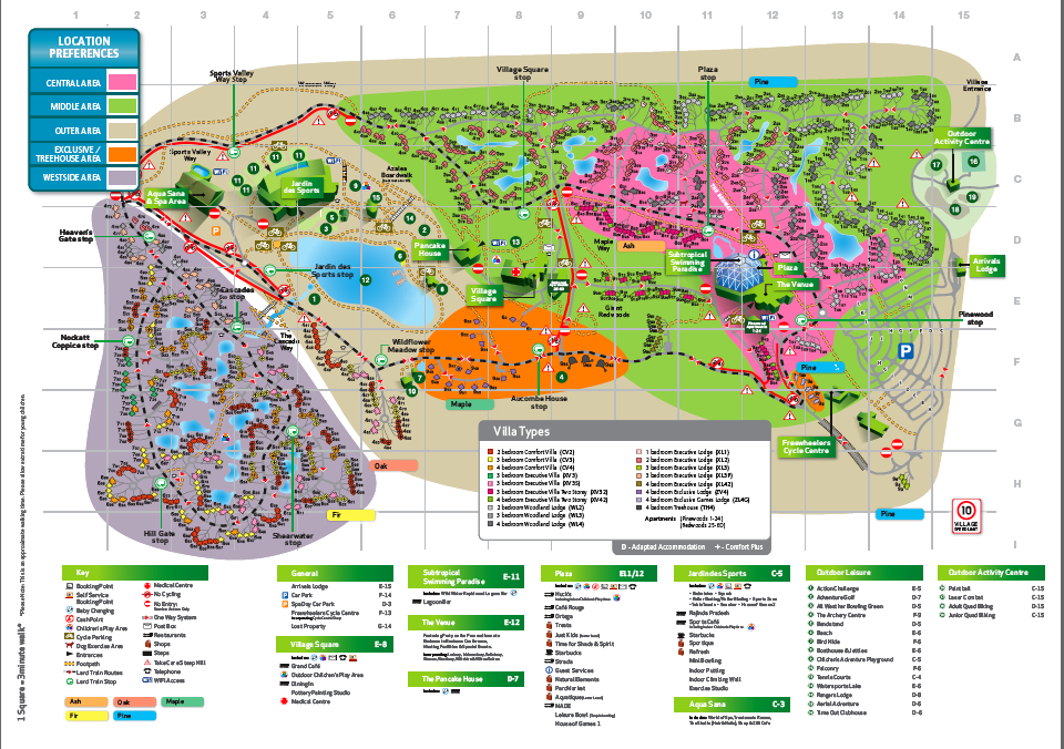 Longleat Centre Parcs Map We'd definitely have our map on hand, my little girl loves being