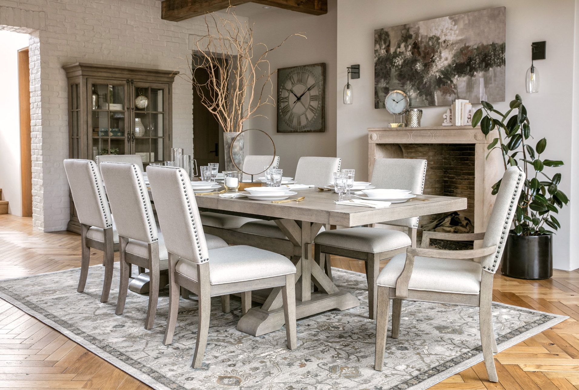 Walden Upholstered Dining Side Chair Grey 170 Living Spaces Dining Tables Side Chairs Dining Upholstered Dining Side Chair
