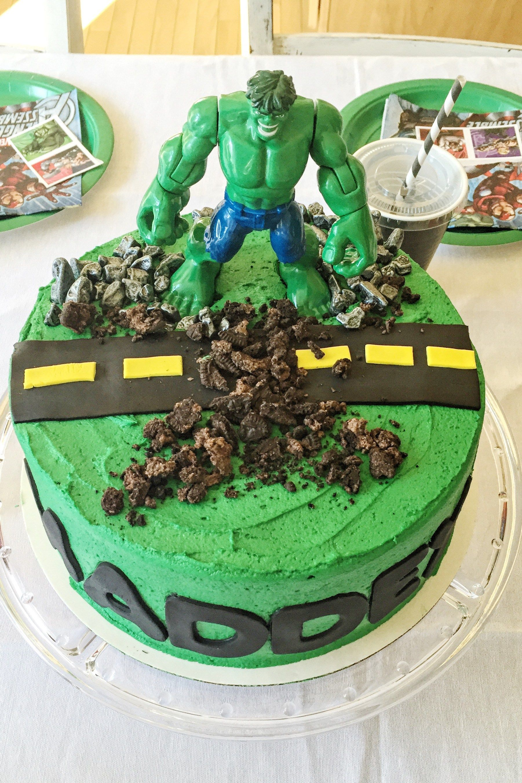 Magnificent Incredible Hulk Cake Hulk Cakes Hulk Birthday Cakes Incredible Personalised Birthday Cards Veneteletsinfo