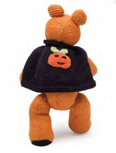 Pumpkin Bear Free Halloween Knitting Pattern Knitted Toys