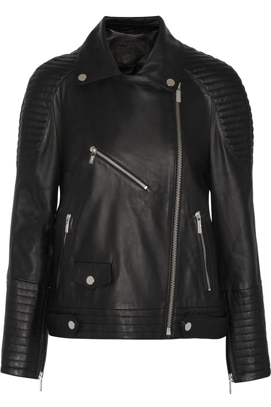 KARL LAGERFELD Renate Leather Biker Jacket karllagerfeld cloth
