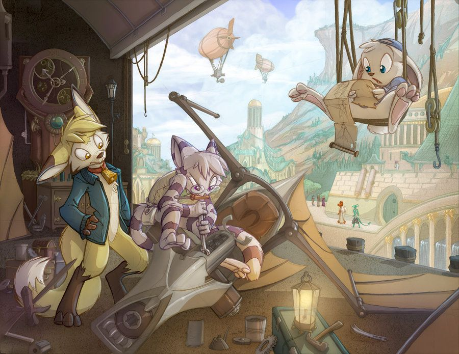 commission i had a blast with the detail and range of depth in this one combine it with a trio of adorable characters and i think it s easy to see