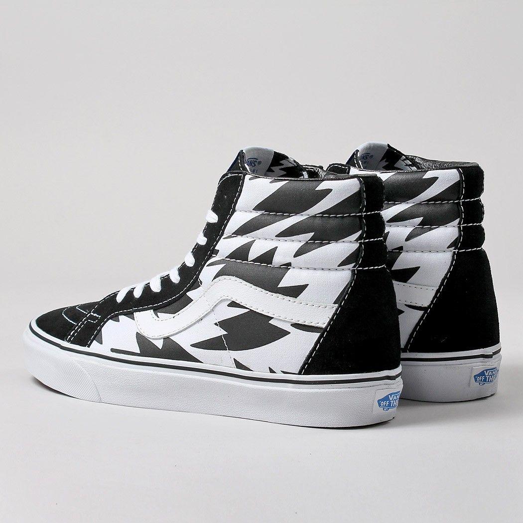 1cfc8885993 Vans X Eley Kishimoto Sk8-Hi Reissue Shoes - Flash White Black ...