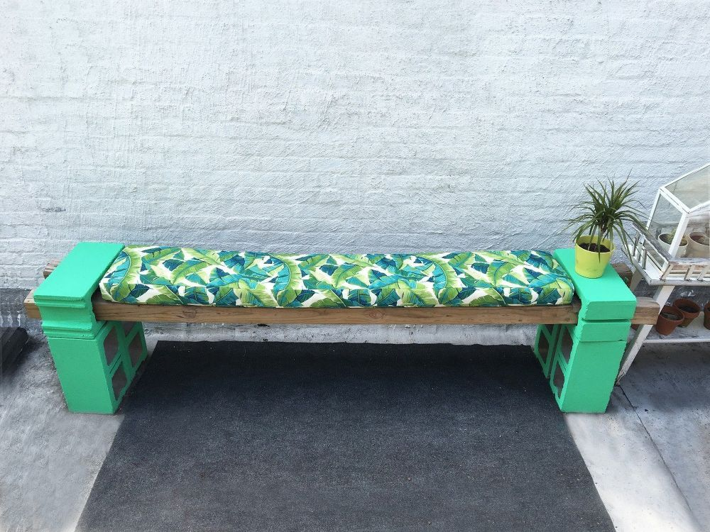 how to make a cement block bench and cushions cement gardens