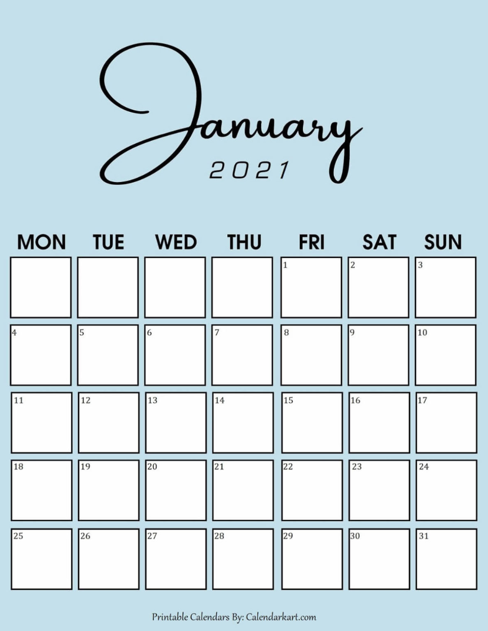 Images of January 2021 Calendar Images