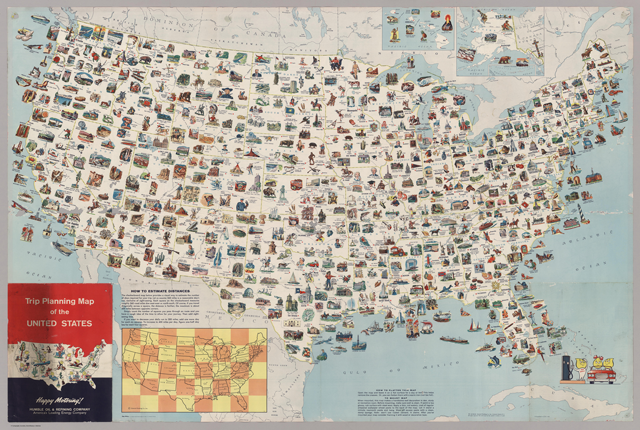 the vintage map for your next all american road trip