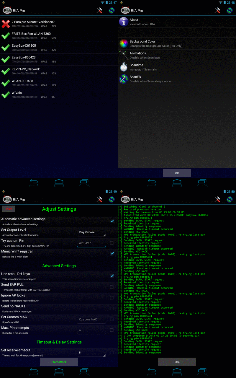 how to hack wifi password using unrooted android phone