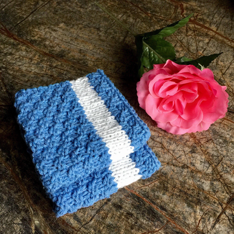 Knitted dish cloths set of 2 dishcloth facecloth dishcloths