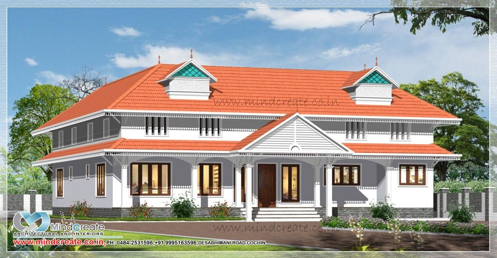 Kerala Model Sloped Roof Home Design Sqft Singil Storey