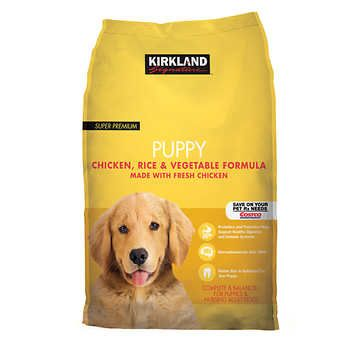 Kirkland Signature Chicken Rice and Ve able Puppy Food 20 lbs #0: 0dfe7905b50b85b819f6593c9059c754