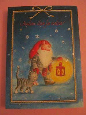 Joulukortit, joissa kissa, saa laittaa mihin vuodenkaikaan vaan :)