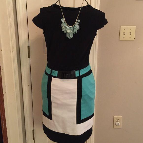 Chetta B Colorblock Dress