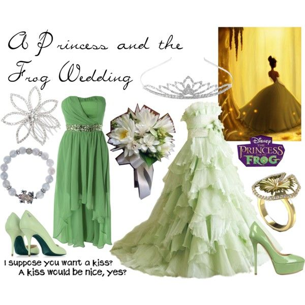 """A Princess and the Frog Wedding"" by reya-selene on Polyvore"