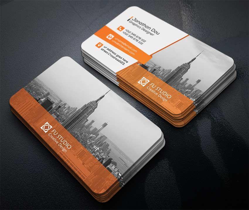 Creative Business Card | Business Card Mockup PSD | Pinterest | Free ...