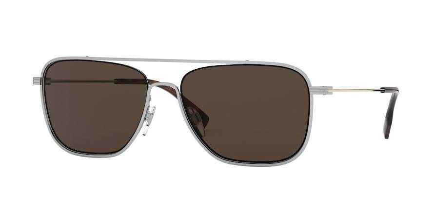 Burberry BE3112 Square Sunglasses – 59-16-145 / 130173-SILVER – Products