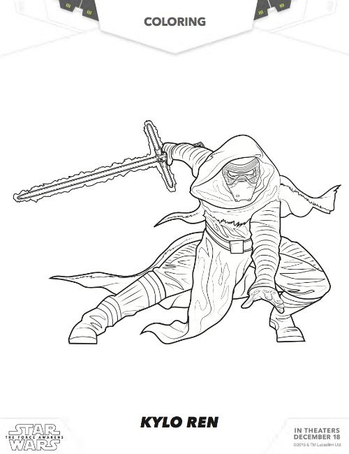 Star Wars Free Kylo Ren Coloring; Star Wars Free Coloring Pages ...