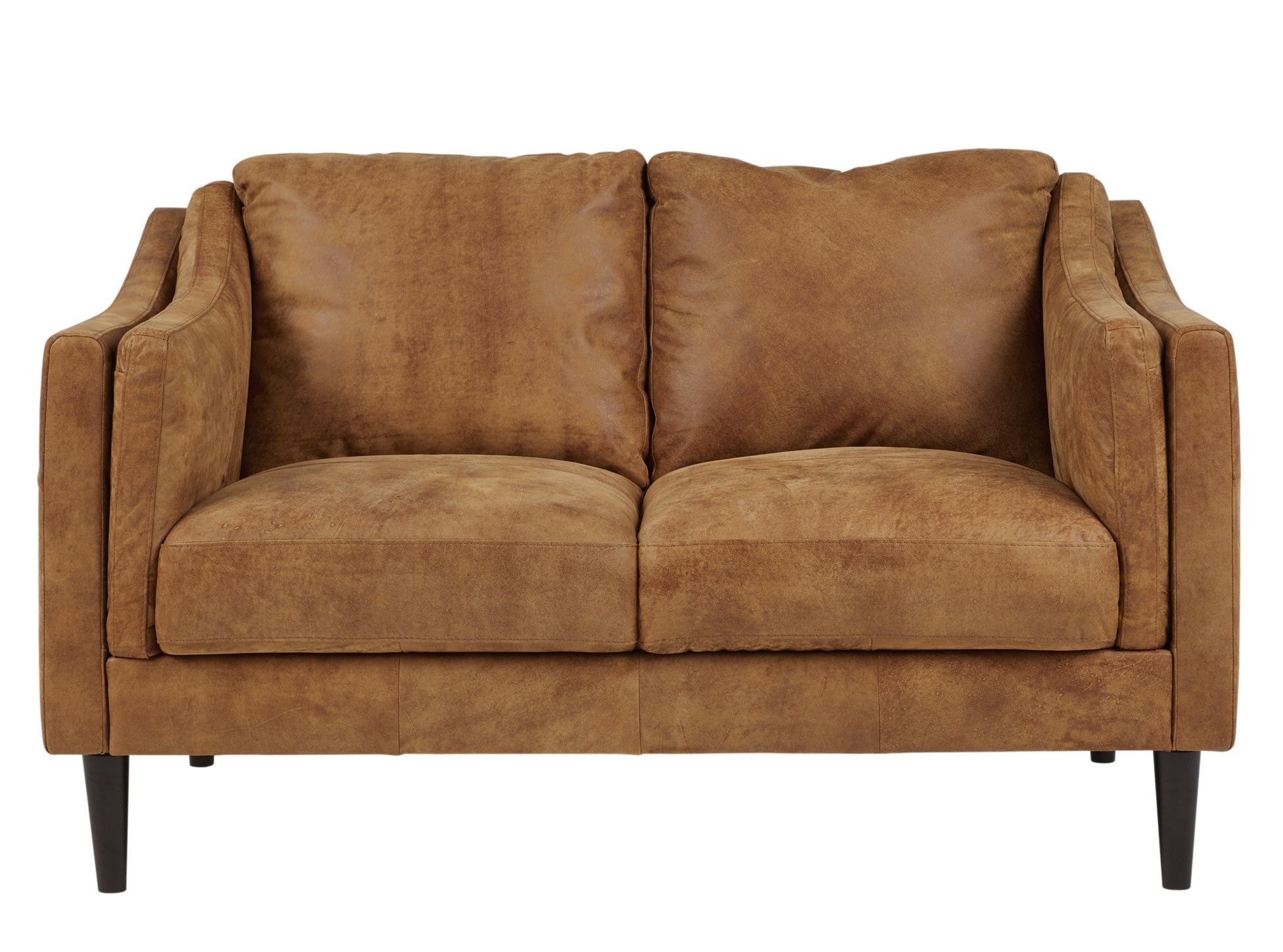 Lindon 2 Seater Sofa Outback Tan Leather from Made Brown