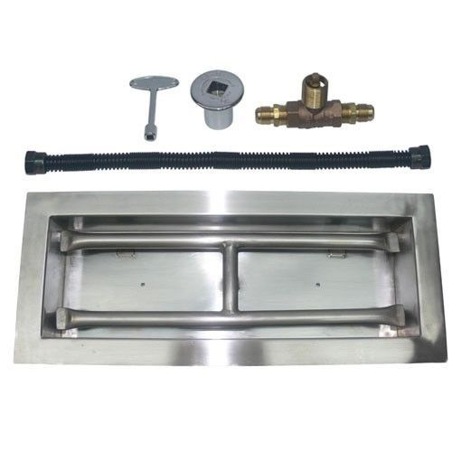 Stainless Steel Drop In Burner Kit For Natural Gas Fire Pit