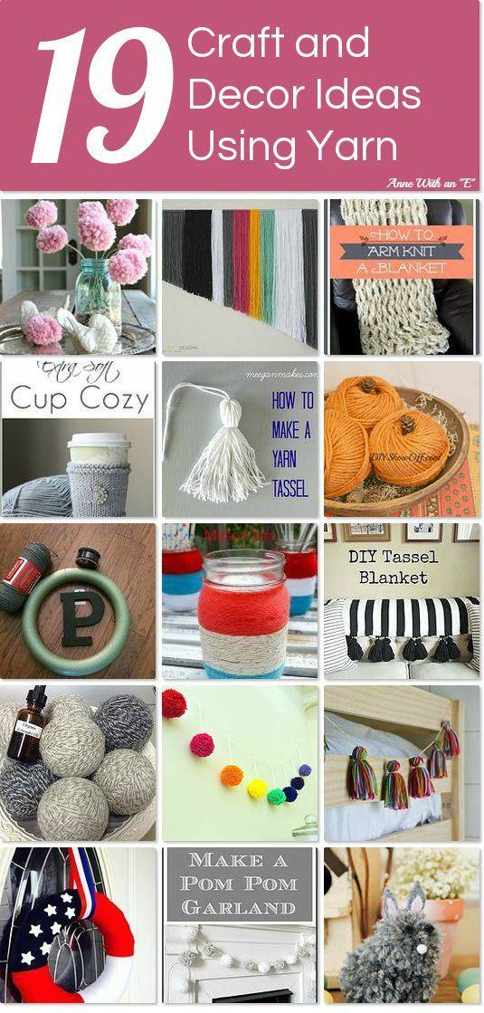 19 gorgeous craft and decor ideas using yarn.