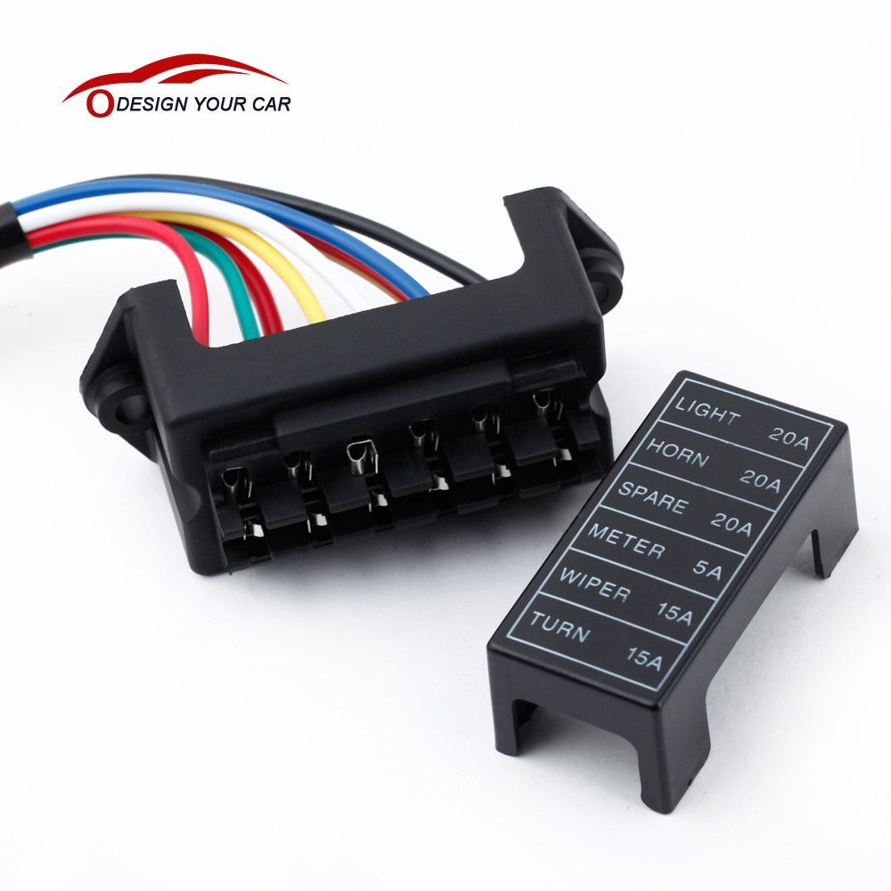 Kkmoon 6 Way Car Fuse Box Circuit Trailer Auto Blade Lamborghini Gallardo Block Holder Dc 12v 24v 32v Atc Ato 2 Input Ouput Wire Products Pinterest