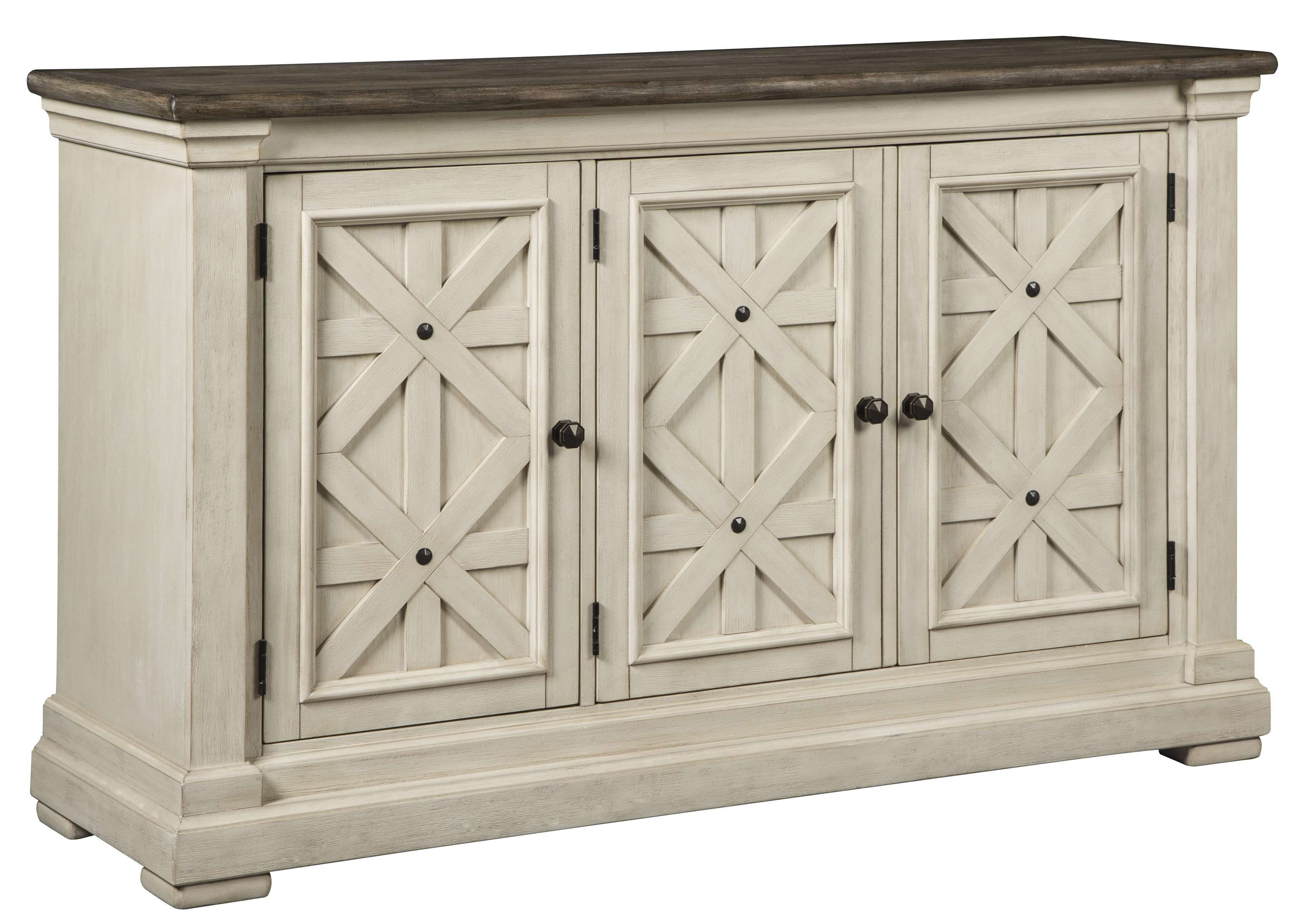 Signature Design By Ashley Bolanburg Two Tone Dining Room Server D647 60 Goedekers Com Dining Room Server Dining Room Buffet White Dining Room