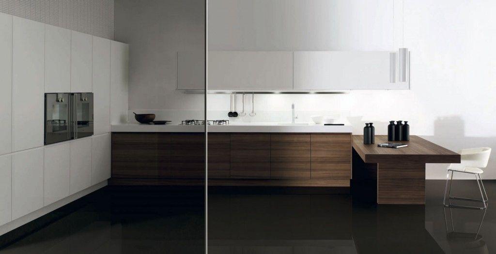 Muebles de cocina acabados Cusan Nogal y Sedamat Blanco de ...