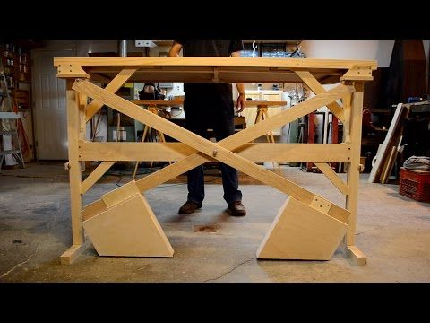 This Custom Built Wooden Counterweight SitStand Desk Is A Thing Of - Adjustable height desk diy