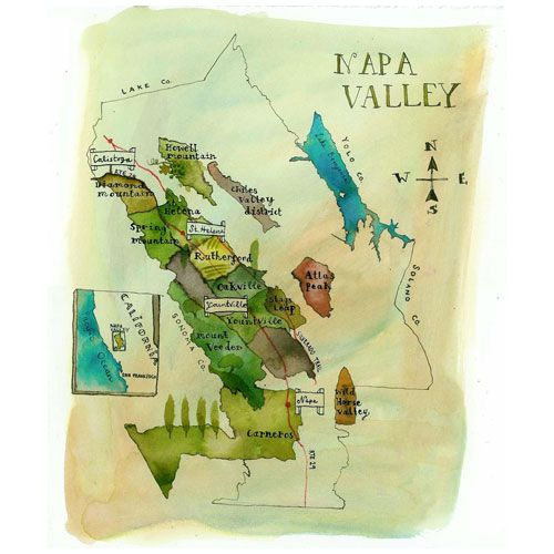 Napa Valley map Wayfinding