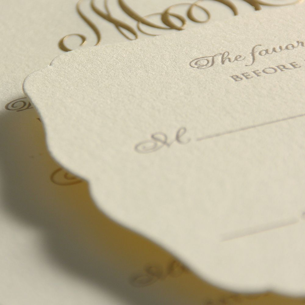 Engraved Rococo Wedding Invitation Paper Ink Pinterest