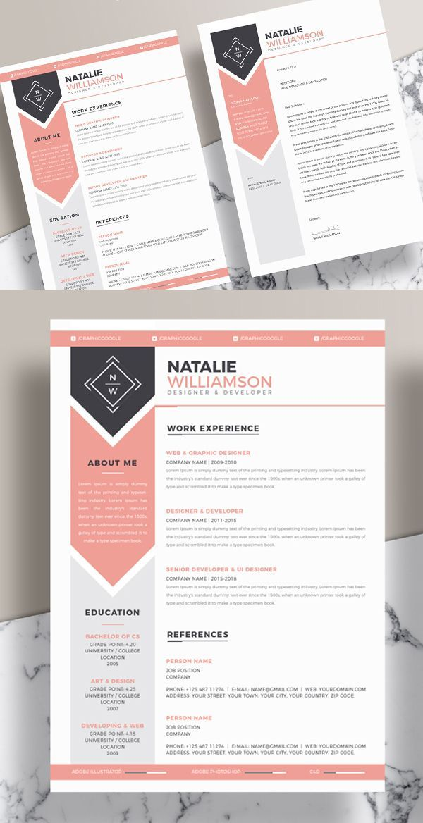 25 fresh free professional resume templates