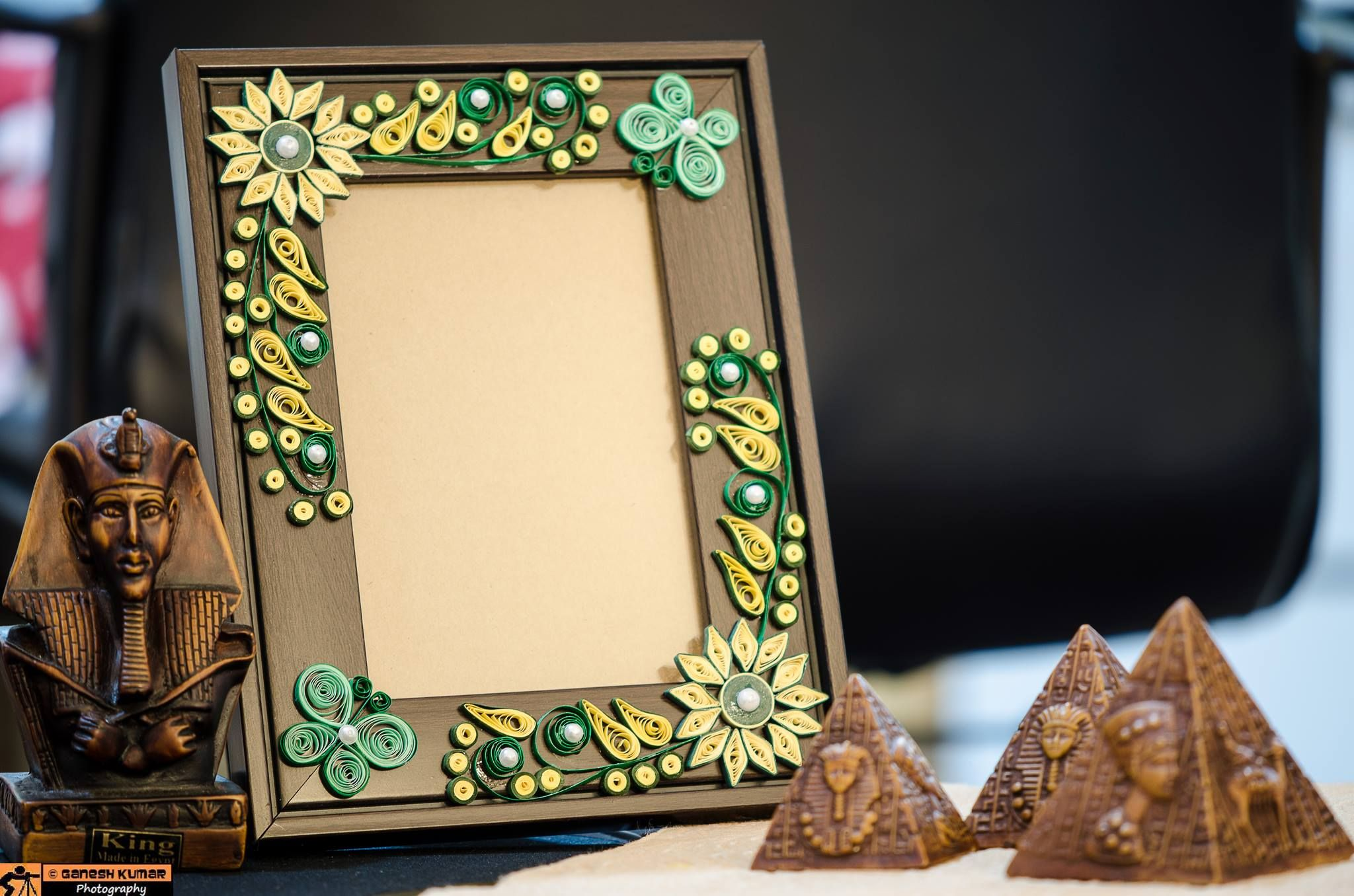 Handmade paper quilled photo frame quilling handmade paper quilled photo frame sciox Image collections