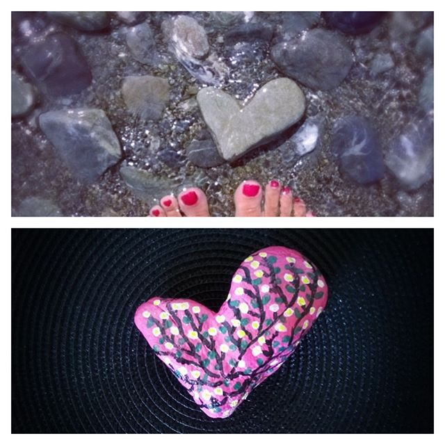 Öncesi ve sonrası.... Mutlu,huzurlu bir pazar günü olsun.... 😊👼🍀 #stone #anı #hatıra #tasboyama #hediye #paintedstone #paintedstones #tas #taşboyama #taş #stonepainting #taşboyamasanati #handmade #elemegim #rockpainting #stoneart #girisimcilerplatformu #goodmorning #kalp #günaydın #love #aşk #deniz #sea #beforeafter