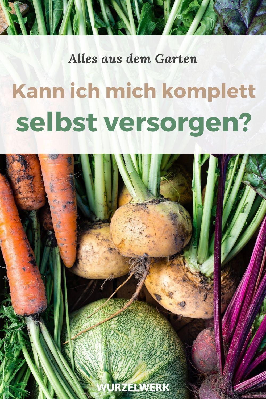 Selbstversorgung Aus Dem Garten Ist 100 Ige Selbstversorgung Moglich Wurzelwerk In 2020 Rezepte Gesund Gemuse Anbauen Gemusegarten Anlegen