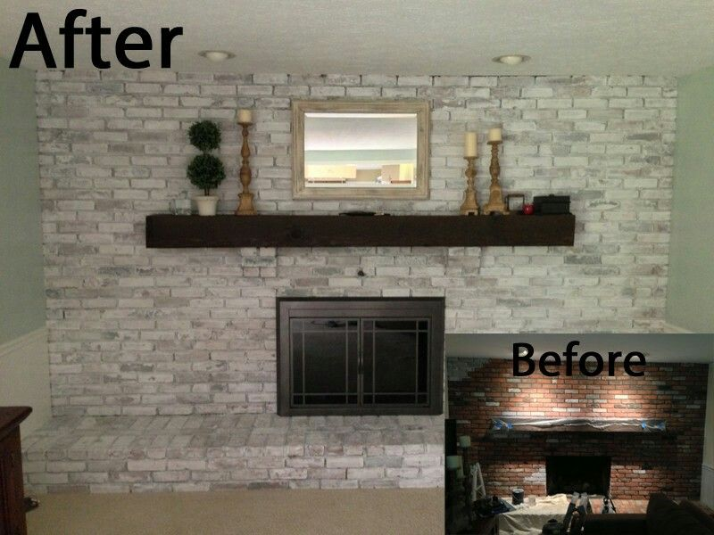Best Of Whitewash Brick Before And After