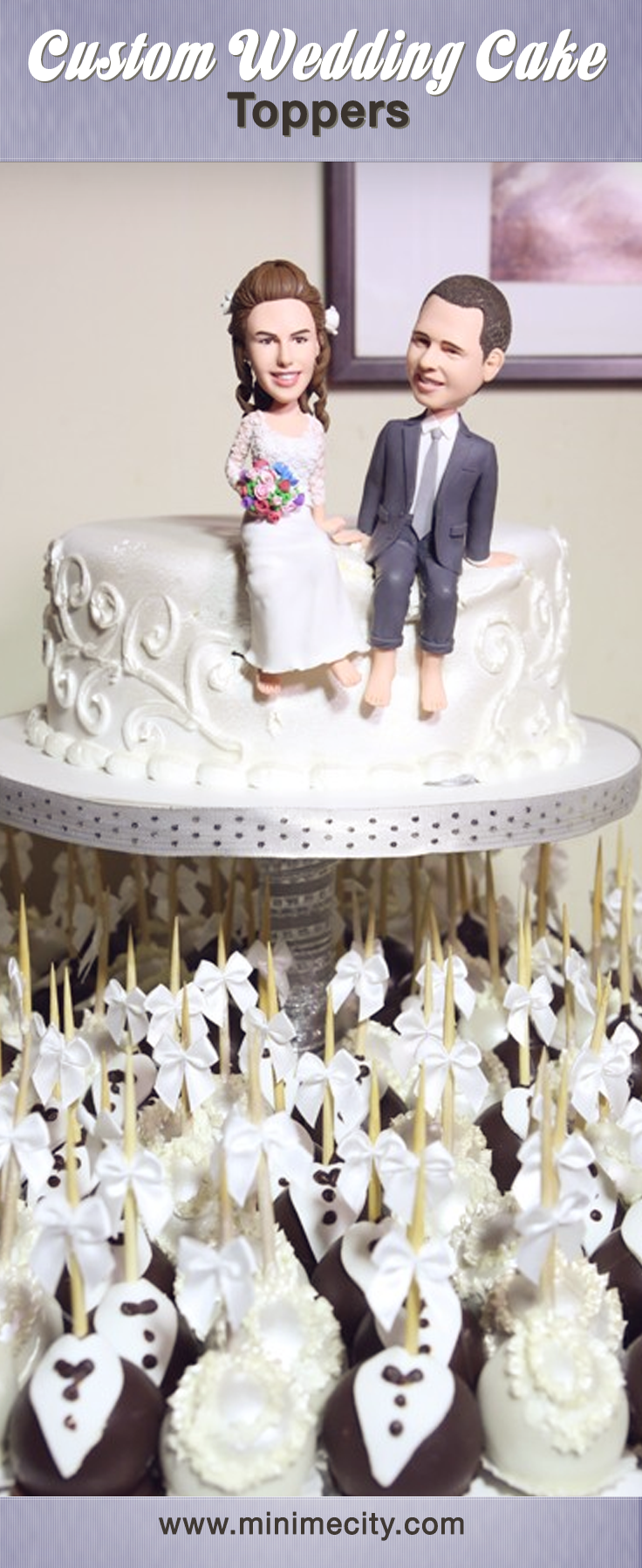 Custom Figurines From Your Photos!   Custom cake, Cake and Weddings