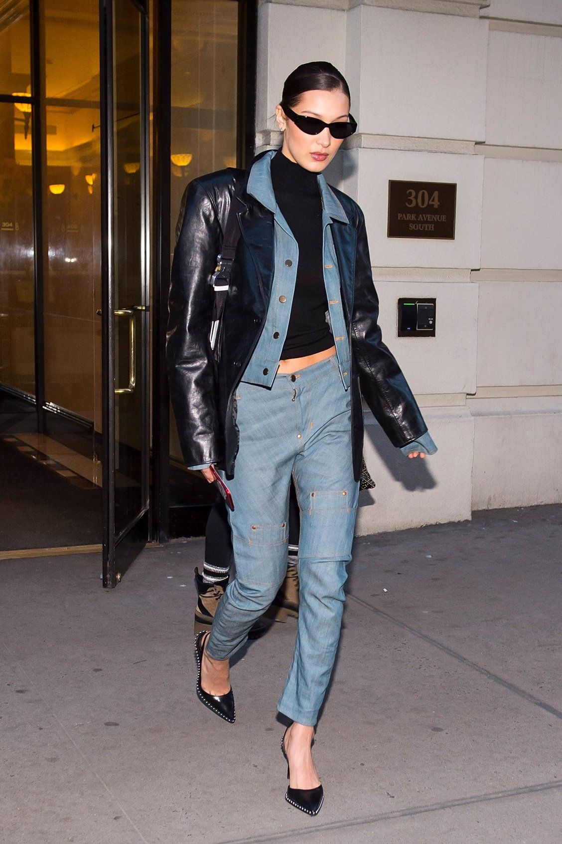 10 Bella Hadid Approved Leather Jackets To Top Off Your Spring Look Bella Hadid Outfits Hadid Style Fashion [ jpg ]
