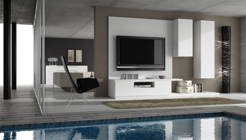Colgar tv en pared for Colgar muebles sin taladrar