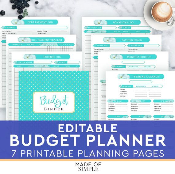 Finance Planner Home Budget Binder By Madeofsimple  Made Of