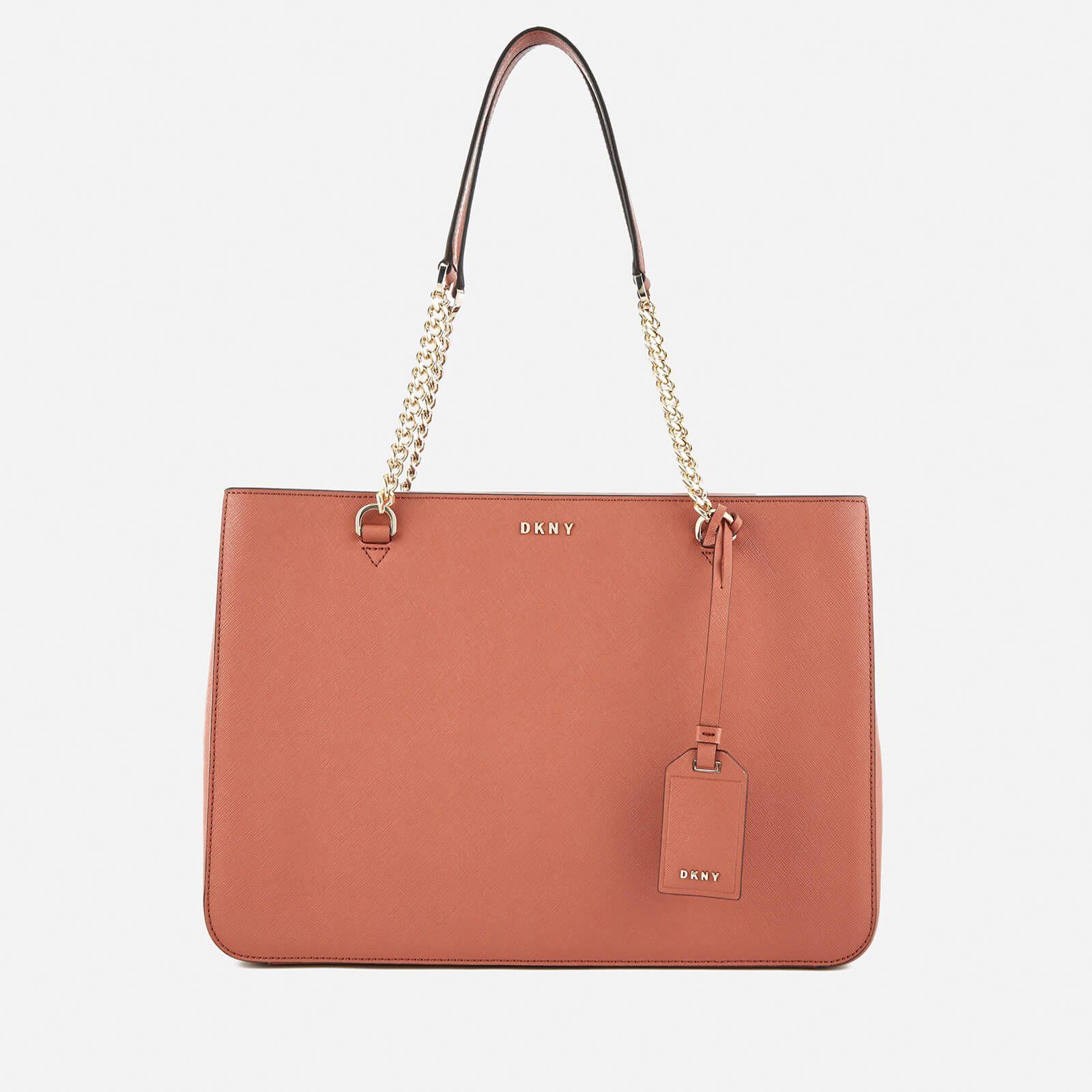 DKNY Women's Bryant Park Shopper Tote Bag Terracotta