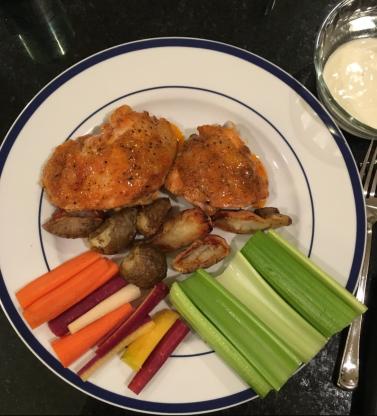 Baked Buffalo Thighs Recipe Food, Recipes, Chicken