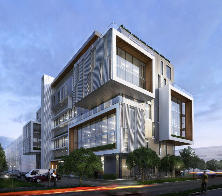 Office building exterior 3d model cgstudio for Modern office building exterior design