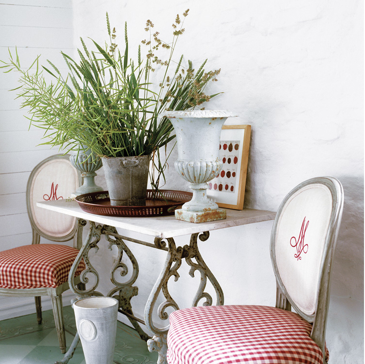 Monogrammed chairs