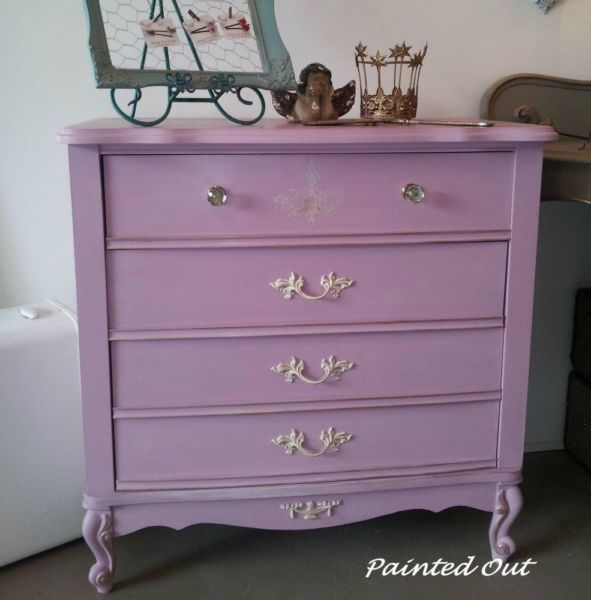 Dresser painted in color Henrietta Chalk Paint by Annie Sloan