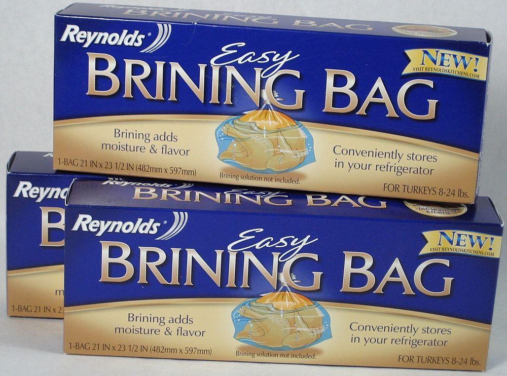 3 Reynolds Easy Brining Bag For 8 24lb Turkeys Turkeyday Thanksgiving Thankful